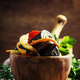 Salad with eggplant, onions and bell peppers - PhotoDune Item for Sale