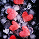 Sweet hearts of watermelon on crushed ice, top view - PhotoDune Item for Sale