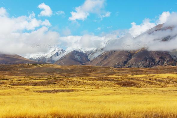 New Zealand mountains - Stock Photo - Images