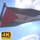 Western Sahara Flag on a Flagpole V4 - 4K - VideoHive Item for Sale