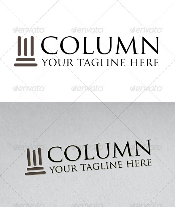 Column Logo - Buildings Logo Templates