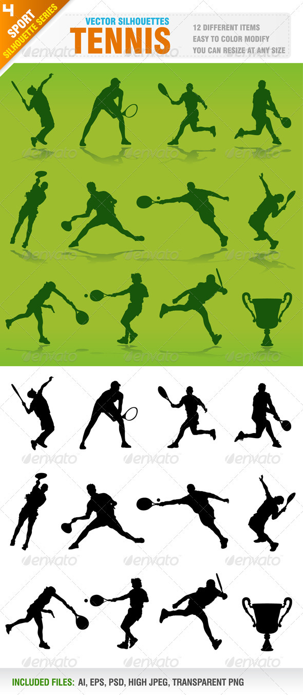 Tennis Silhouettes - Sports/Activity Conceptual