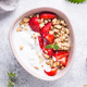 Granola with Greek yogurt and strawberry - PhotoDune Item for Sale