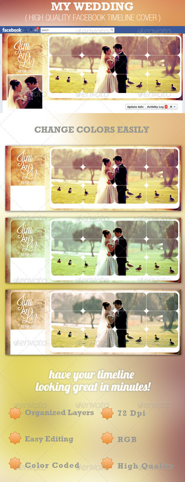 My Wedding Facebook Timeline Cover Template - Facebook Timeline Covers Social Media