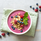 Smoothie Bowl with Granola and Berries on the Table. - PhotoDune Item for Sale
