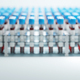 Coronavirus Covid19 test tubes in a rack. Medical screening and Covid tests production - PhotoDune Item for Sale