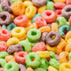Close up View of Bright Multicolored Breakfast Cereal - PhotoDune Item for Sale