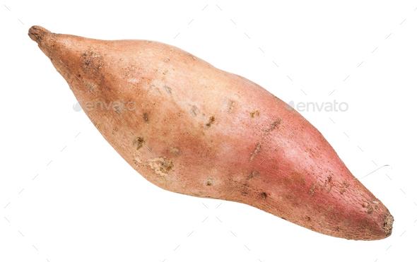 fresh sweet potato (ipomoea batatas) isolated - Stock Photo - Images