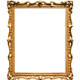 vertical narrow baroque wooden painting frame - PhotoDune Item for Sale