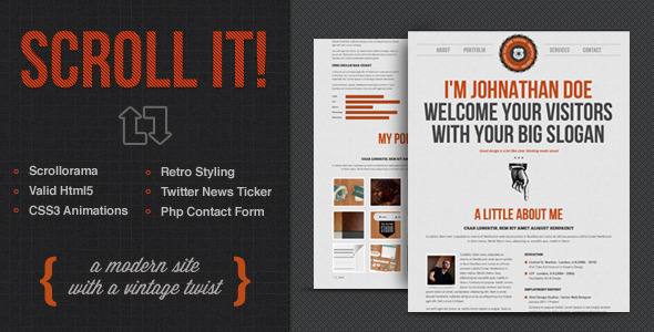 Scroll It! – Creative Single Page Html Template