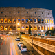 Rome, Italy. Colosseum Also Known As Flavian Amphitheatre In Evening Or Night Time - PhotoDune Item for Sale