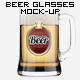7 Beer Glasses Logo Mock-Up - GraphicRiver Item for Sale
