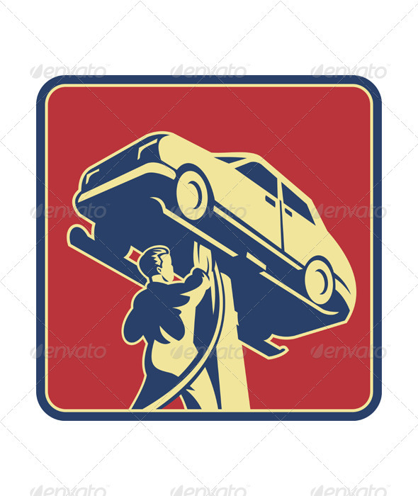 Mechanic Technician Car Repair Retro - Industries Business