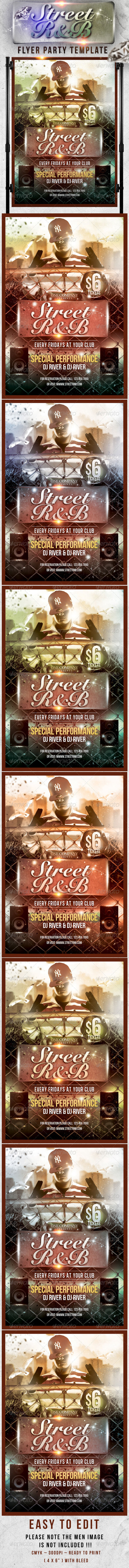 Street Rnb Flyer Template - Clubs & Parties Events