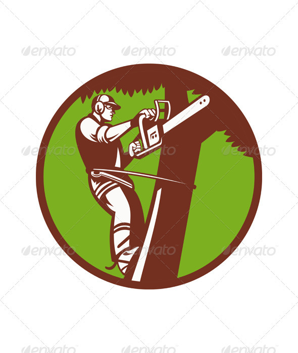 Arborist Tree Surgeon Trimmer Pruner - Industries Business