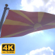 Macedonia Flag on a Flagpole V4 - 4K - VideoHive Item for Sale