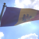 Moldova Flag on a Flagpole V4 - VideoHive Item for Sale