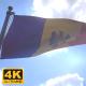 Moldova Flag on a Flagpole V4 - 4K - VideoHive Item for Sale