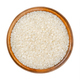 White short grain rice, Asian rice in wooden bowl - PhotoDune Item for Sale