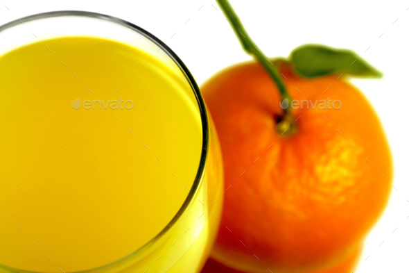 orange juice and mandarin fruit - Stock Photo - Images