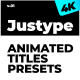 Justype Animated Titles Presets - VideoHive Item for Sale