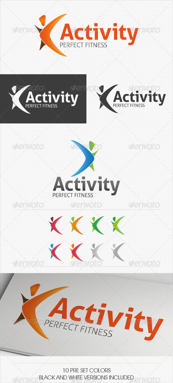Activity Fitness Logo - Symbols Logo Templates