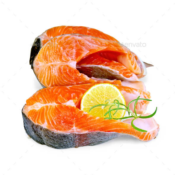 Trout with rosemary and lemon - Stock Photo - Images