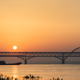 jiujiang highway and railway combined bridge in sunrise - PhotoDune Item for Sale