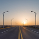 road on bridge in sunrise - PhotoDune Item for Sale
