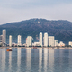 Sunrise cityscape view of Penang Island from Straits of Malacca - PhotoDune Item for Sale