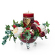 Christmas arrangement with white and red roses - PhotoDune Item for Sale
