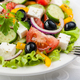 Greek salad on the white plate - PhotoDune Item for Sale