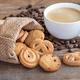 Butter cookies in burlap bag - PhotoDune Item for Sale