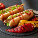 Two hot dogs on stone board - PhotoDune Item for Sale