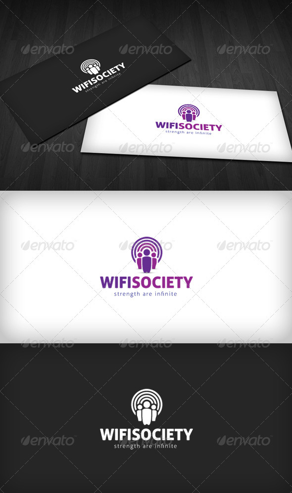 Wifi Society Logo - Humans Logo Templates