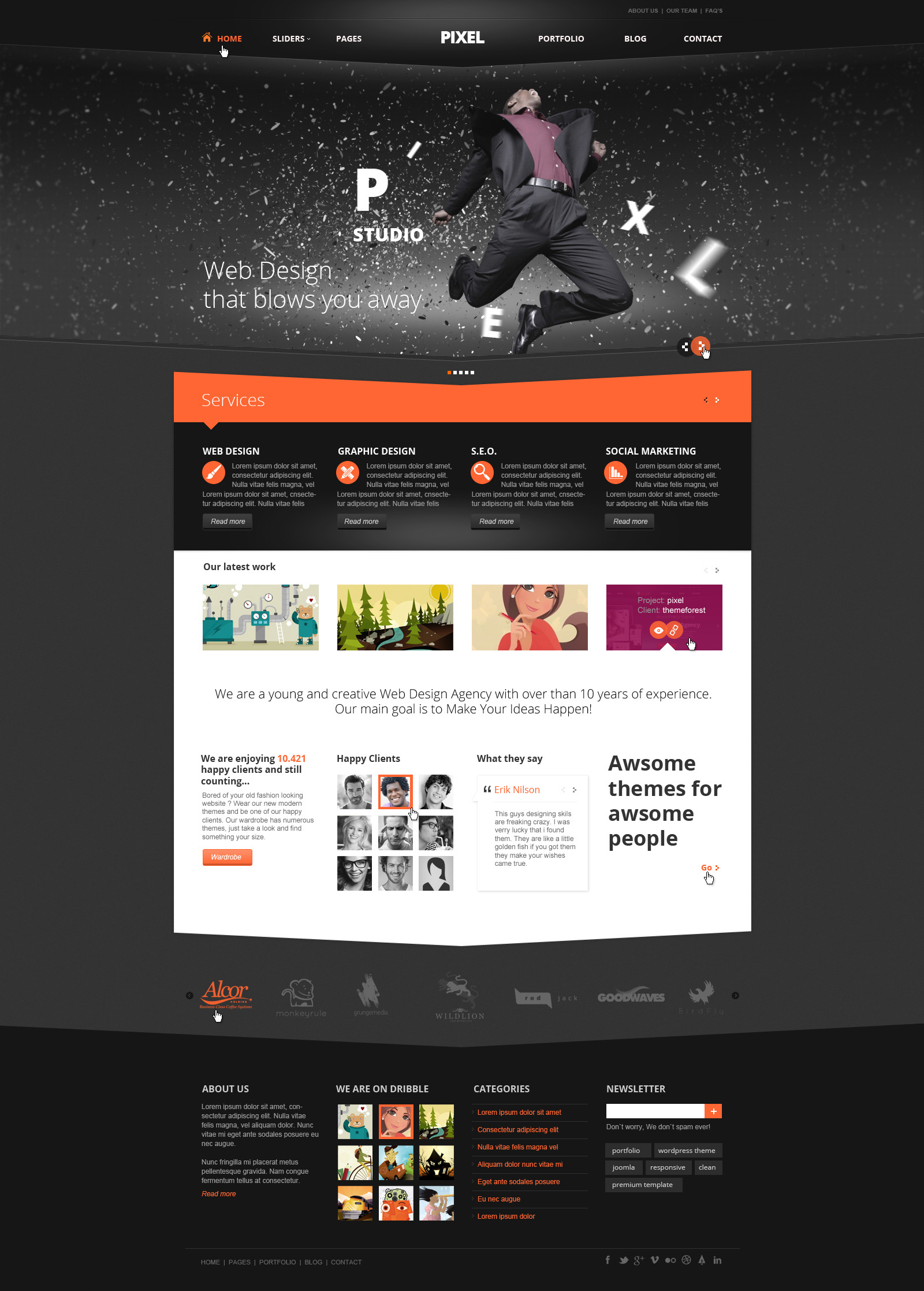 Pixel Studio - Premium Website Template by TitanicThemes | ThemeForest