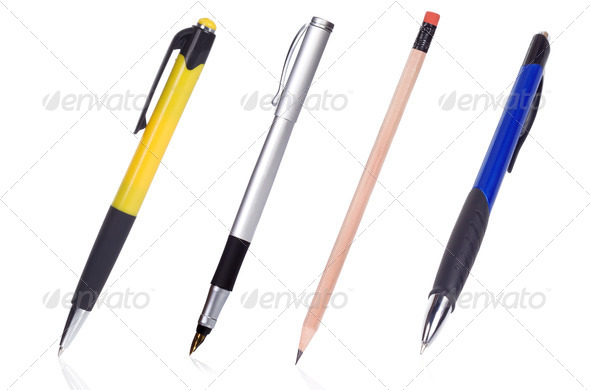 black and yellow pens - Stock Photo - Images