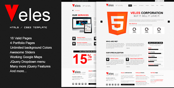 Free Download VELES - Premium HTML Template Nulled Latest Version
