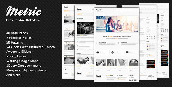 Free Download METRIC - Premium HTML Template Nulled Latest Version