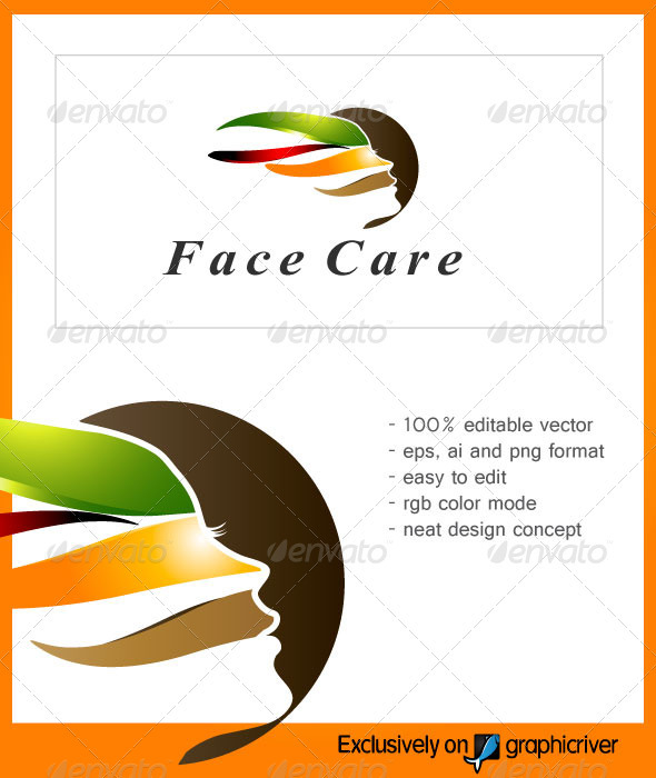 FaceCare Beauty Logo - Vector Abstract