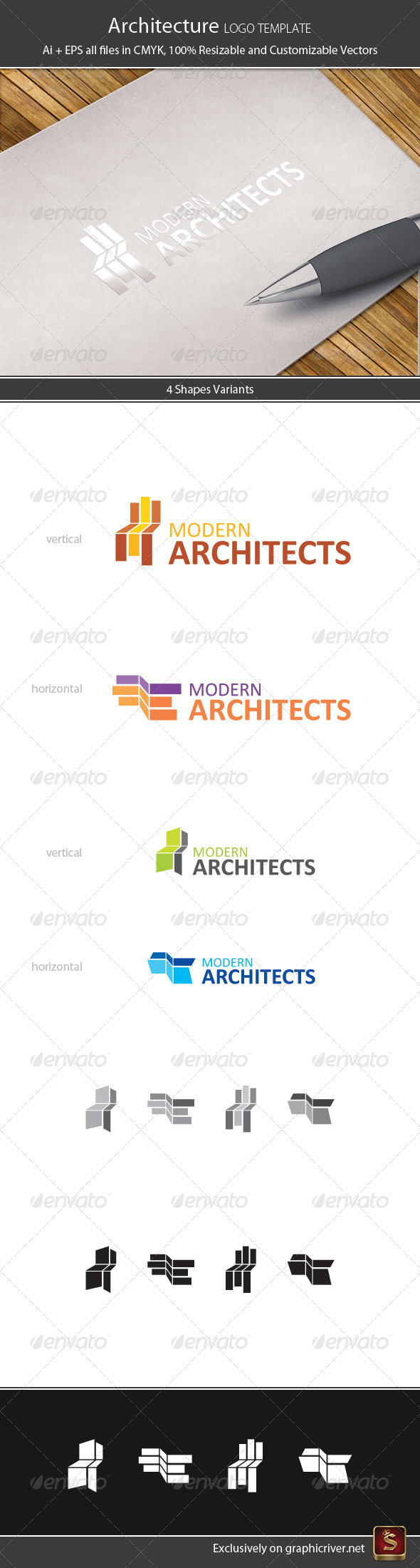 Architecture Logo Template - Vector Abstract