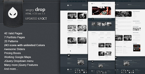 ANGRY DROP – Premium HTML Template