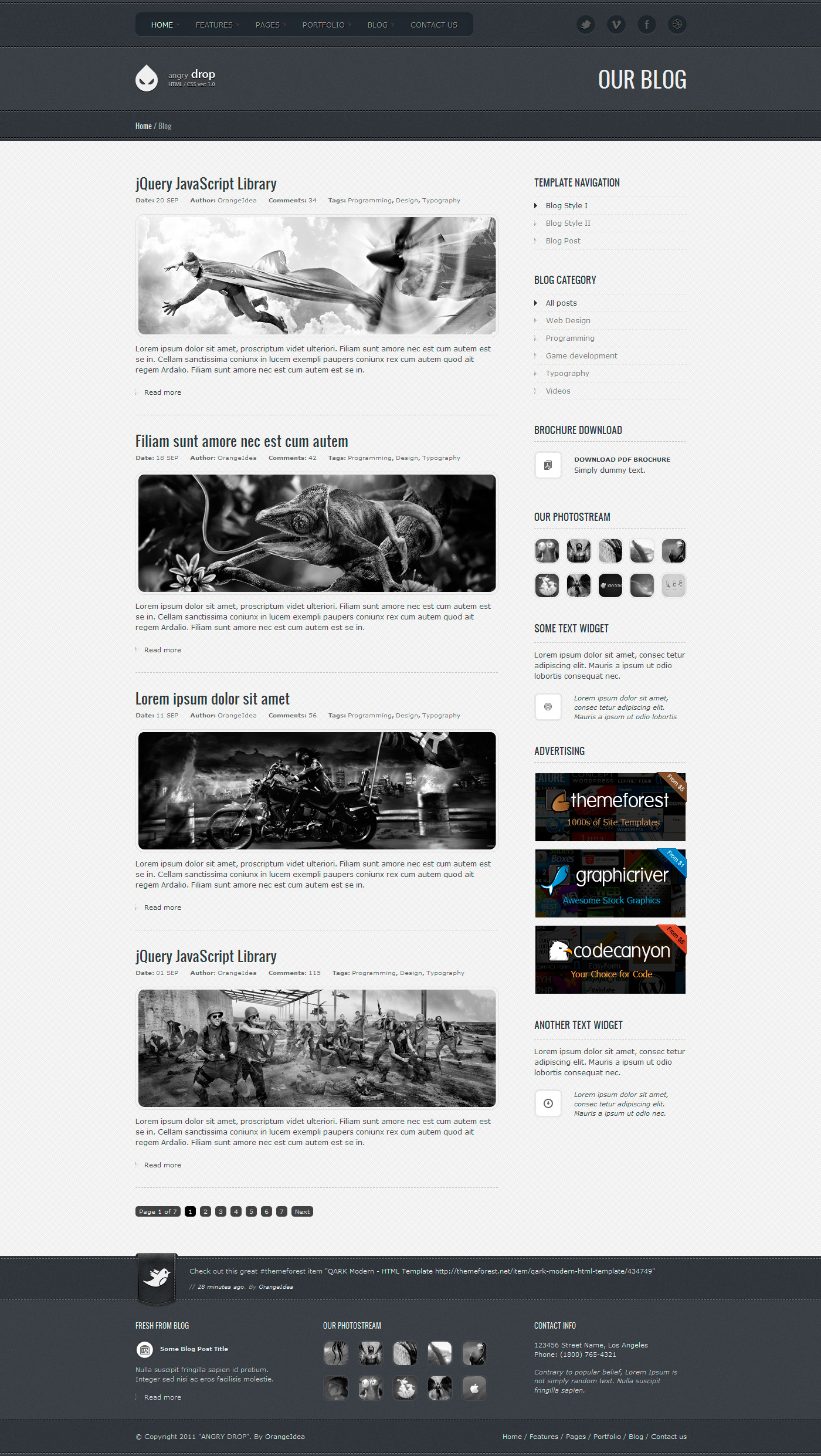 ANGRY DROP - Premium HTML Template by OrangeIdea | ThemeForest