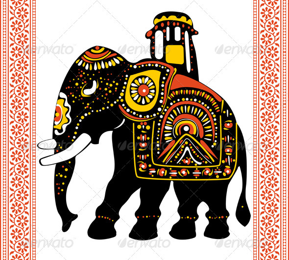 Festive Indian elephant - Animals Characters