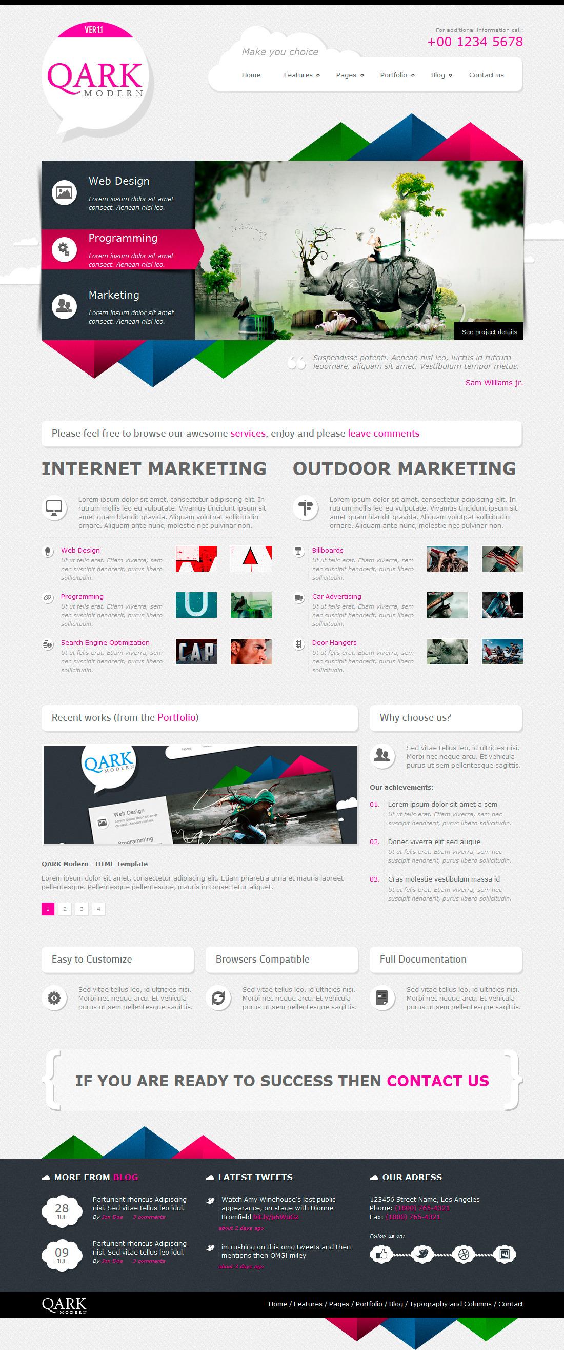 QARK Modern - HTML Template by OrangeIdea   ThemeForest