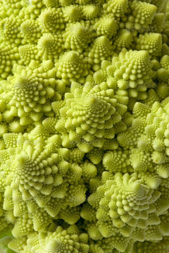 Romanesco cabbage full frame - Stock Photo - Images