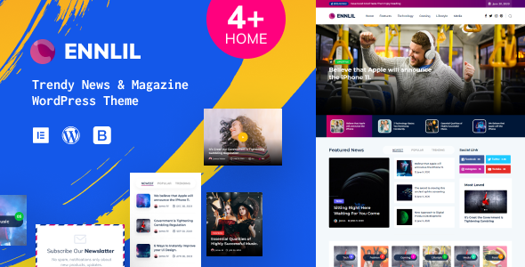 Download Ennlil – Modern Magazine WordPress Theme Free Nulled