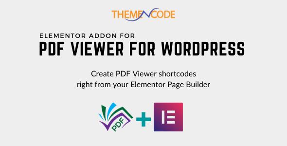 Elementor PDF Viewer for WordPress Addon