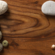 Violet Sea Urchin with Seashells and Pebbles on a Wooden texture - PhotoDune Item for Sale