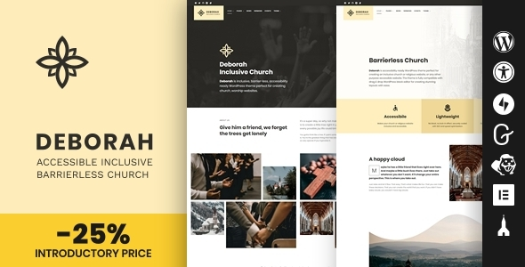 Download Deborah – Inclusive Church WordPress Theme Free Nulled